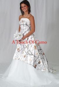 camo wedding dress | Everyday Celebrations!